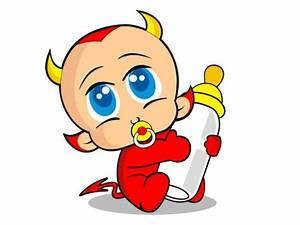 Devil Baby vectors stock in format for free download 970.96KB