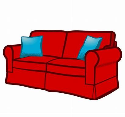 Sofa Couch Clipart Clip Vector Coloured Transparent