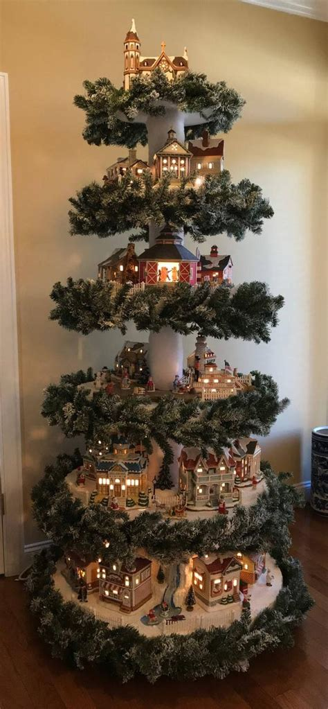 christmas village tree instructions christmas village etsy