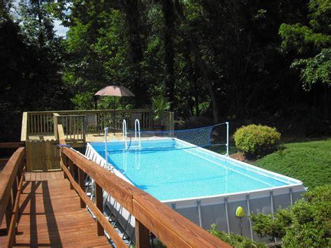 deck  intex ultra frame pool deck design  ideas