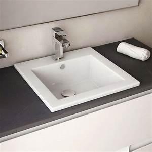 vasque a encastrer par dessus carree cara With vasque salle de bain a encastrer