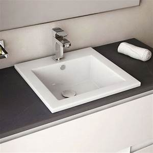vasque a encastrer par dessus carree cara With vasque salle de bain carrée