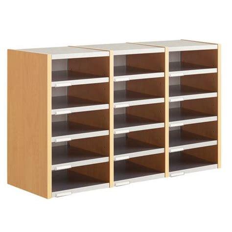 meuble de classement bureau module de tri du courrier indépendant 3 colonnes