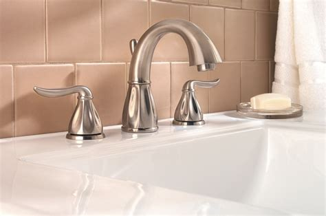 pfister sedona 2 handle 8 quot widespread bathroom faucet in brushed nickel touch bathroom sink