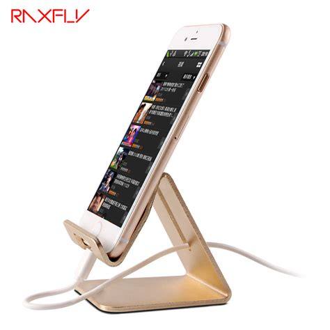 iphone stand for desk aliexpress buy raxfly universal aluminum metal phone