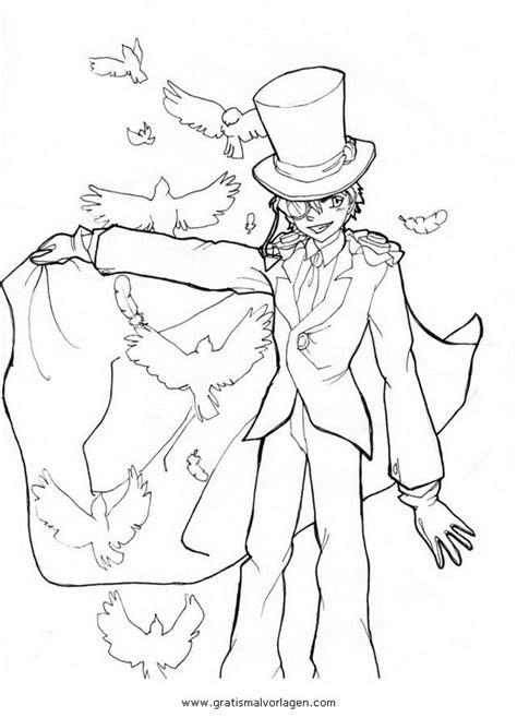 kaito kid  gratis malvorlage  comic trickfilmfiguren