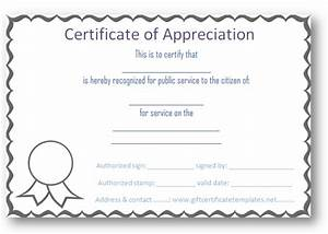 Free certificate of appreciation templates certificate for Free certificate of appreciation template downloads
