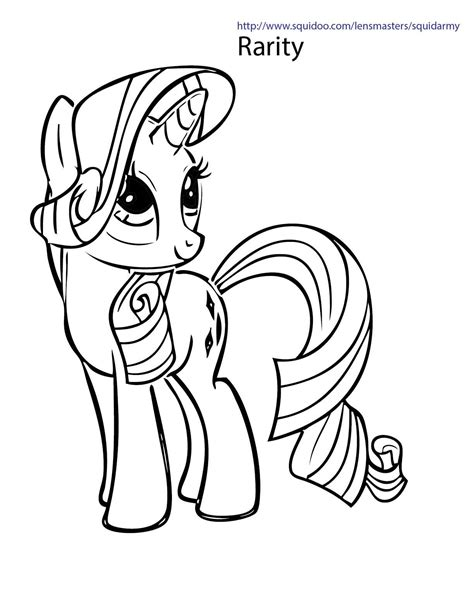 pony coloring pages squid army