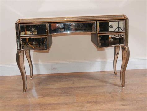 table bureau mirrored desk bureau plat writing table deco mirror