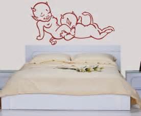 wandtattoos schlafzimmer wandtattoo wandaufkleber teufelchen teufel schlafzimmer sticker er 3015 ebay