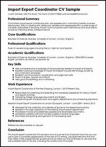 Import export coordinator cv sample myperfectcv for Import resume into template
