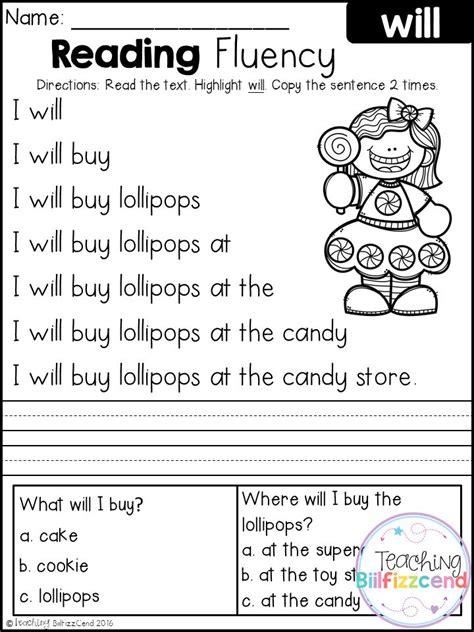 Free Reading Fluency And Comprehension (set 2)  Tpt Free Lessons  Pinterest Kindergarten