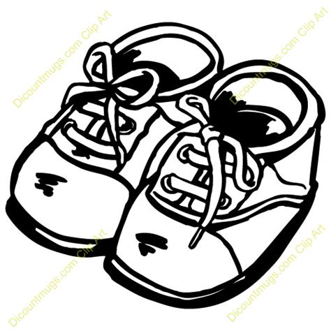 shoe clipart black and white baby shoes clip 42