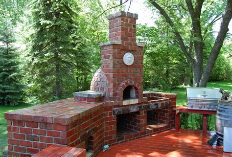 brick pizza oven traditional patio chicago by adv