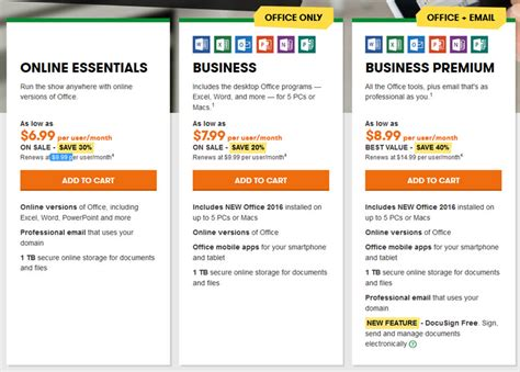 Office 365 Mail Plans by A Review Of Godaddy S Microsoft Office 365