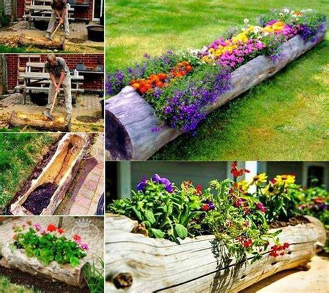 Garden Decoration Logs by 15 Diy Garden Log Decorations Houz Buzz