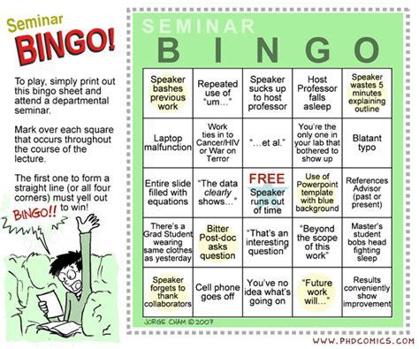 phd comics seminar bingo