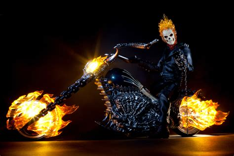 hot toys ghost rider action figure photography smokes afc