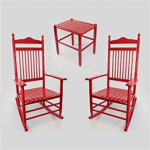 Calabash Wood Rocking Chair & Table Set No. 467S/1618 3pc ...