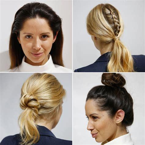 quick hairstyles  work popsugar beauty australia