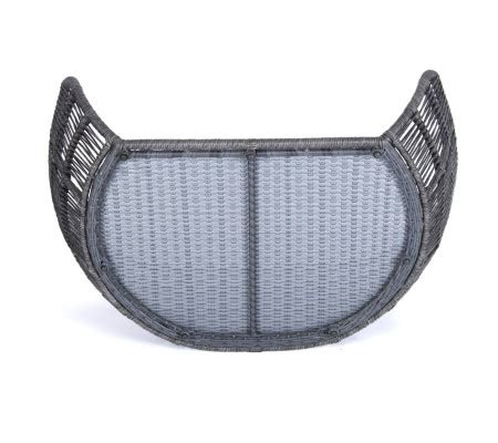 laboni prado design lounge bett fuer hunde grey red