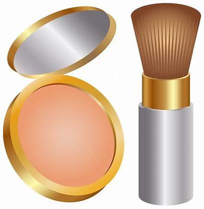 Powder Brush Clip Face Transparent Clipart Cosmetics