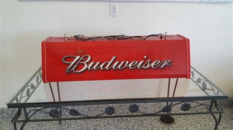 budweiser red light for sale budweiser pool table light for sale classifieds