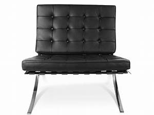 Chaise Et Ottoman Barcelona Noir