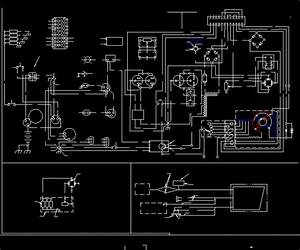 Electric Welder Circuit Diagram  U2013engine Driven Lincoln Im996 Dwg Block For Autocad  U2013 Designs Cad
