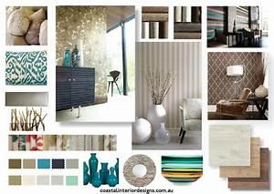 coastal interior design concept mood board created using With interior decor mood boards