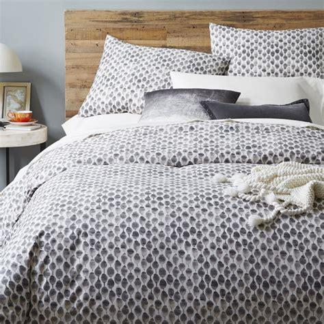 organic sted dot duvet cover pillowcases west elm