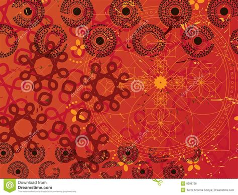 abstract henna background royalty  stock