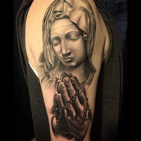 55 Spiritual Virgin Mary Tattoos