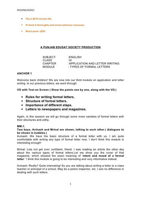 ix application  letter writing beta
