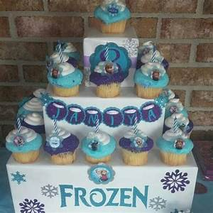 Frozen cupcake stand Party Ideas Pinterest Cupcake