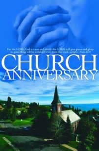 Church Anniversary Bulletin Clip Art
