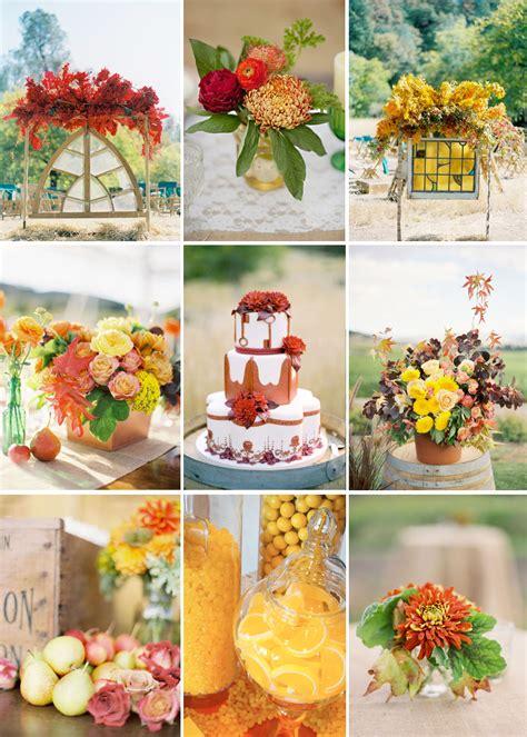 yellow and orange wedding decorations cinnamon citrus signature drink orange yellow wedding reception color palettes onewed