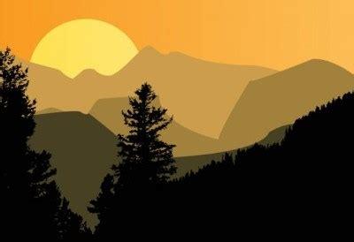 vector mountain sunset vector art ai svg eps vector