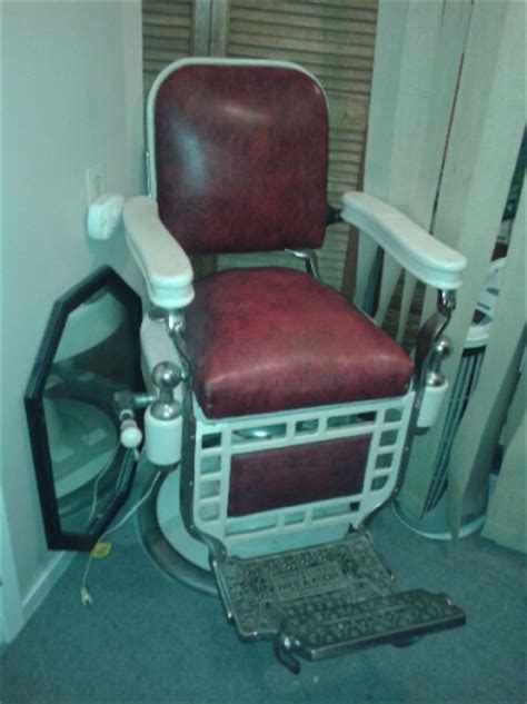 Theo A Kochs Barber Chair Headrest theo a kochs barber chair
