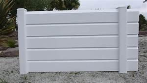 Panneau En Pvc : enchanteur panneau brise vue pvc blanc avec panneau ~ Edinachiropracticcenter.com Idées de Décoration
