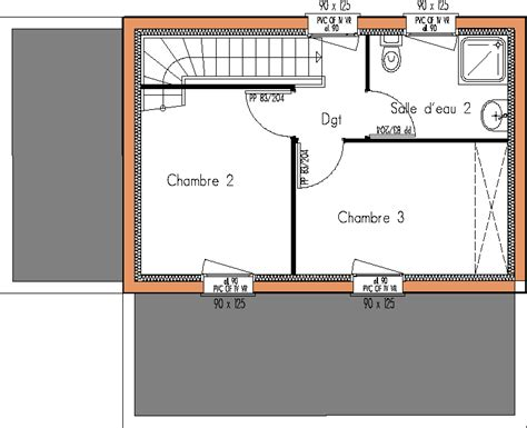 plan maison 3 chambres individuelle plan