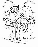 Coloring Truck Dump Printable Trucks Construction Garbage Tractor Finest Tow Printing Animation Comics Unique Popular Spy Coloringhome sketch template