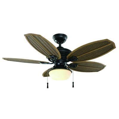 Hton Bay Ceiling Fan Wicker Blades by Hton Bay Palm Iii 48 In Iron Indoor