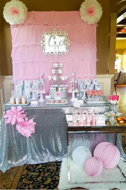 Bridal Shower Pink Silver Decor Favors Fields