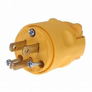 Plug Male Cord Connector 120v