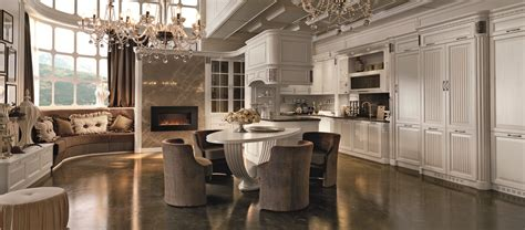 Lacquered Walnut Fitted Kitchen With Island Convivio