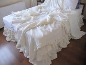 shabby chic white ruffle bedding shabby chic ruffle bedding solid white ivory pink gray linen