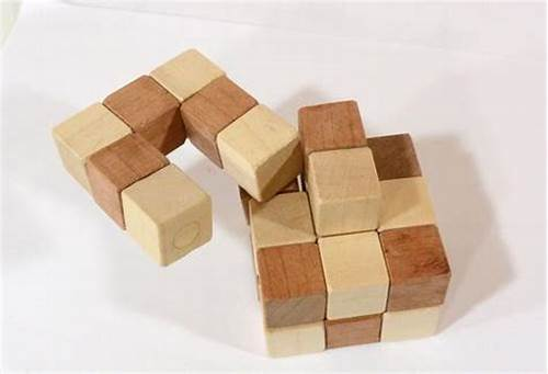 Wooden Puzzle Is Made From Small Wood