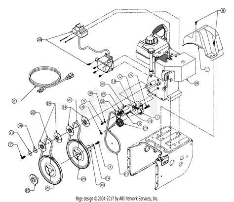 mtd ef  parts diagram  engine   belts