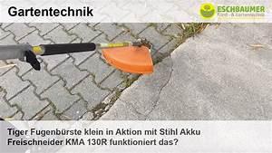 Stihl Freischneider Akku : tiger fugenb rste klein in aktion mit stihl akku freischneider kma 130r funktioniert das youtube ~ Watch28wear.com Haus und Dekorationen